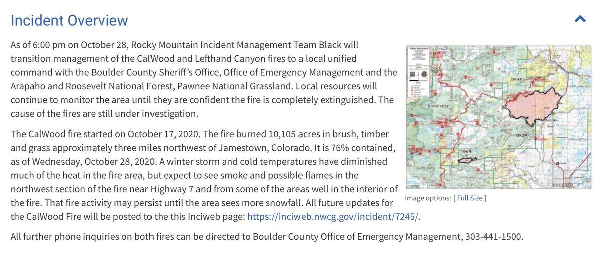 Screenshot via @inciweb #CalWoodFire incident page.  #BoulderCounty #ColoradoFires https://t.co/wmSv45FSNC https://t.co/ri6GTsGrMf