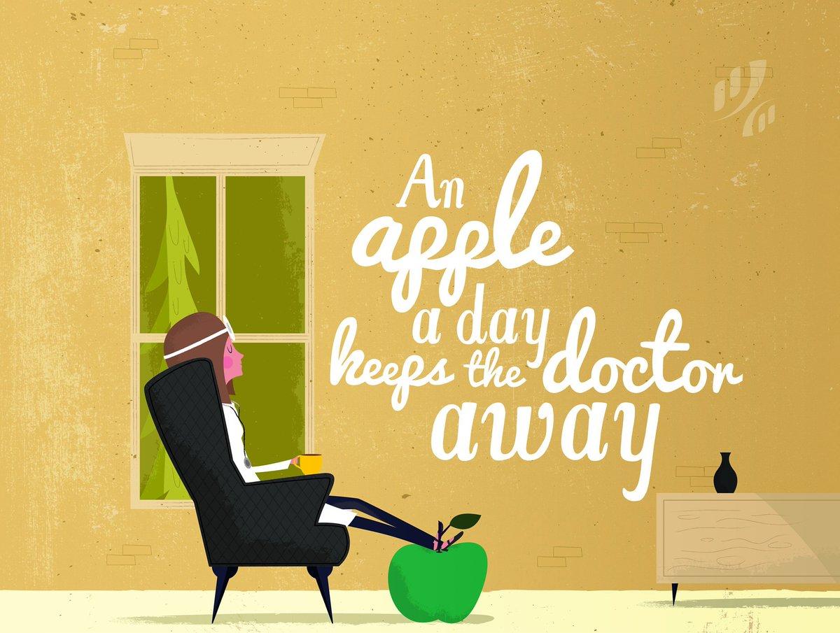 An apple a day keeps the doctor away 🍏   💬 #quote #motivation #inspiration  🥰 #wellness #mindfulness #positivity  @KoreChiro https://t.co/DO4vAPI2pM https://t.co/PsKMLMI2El