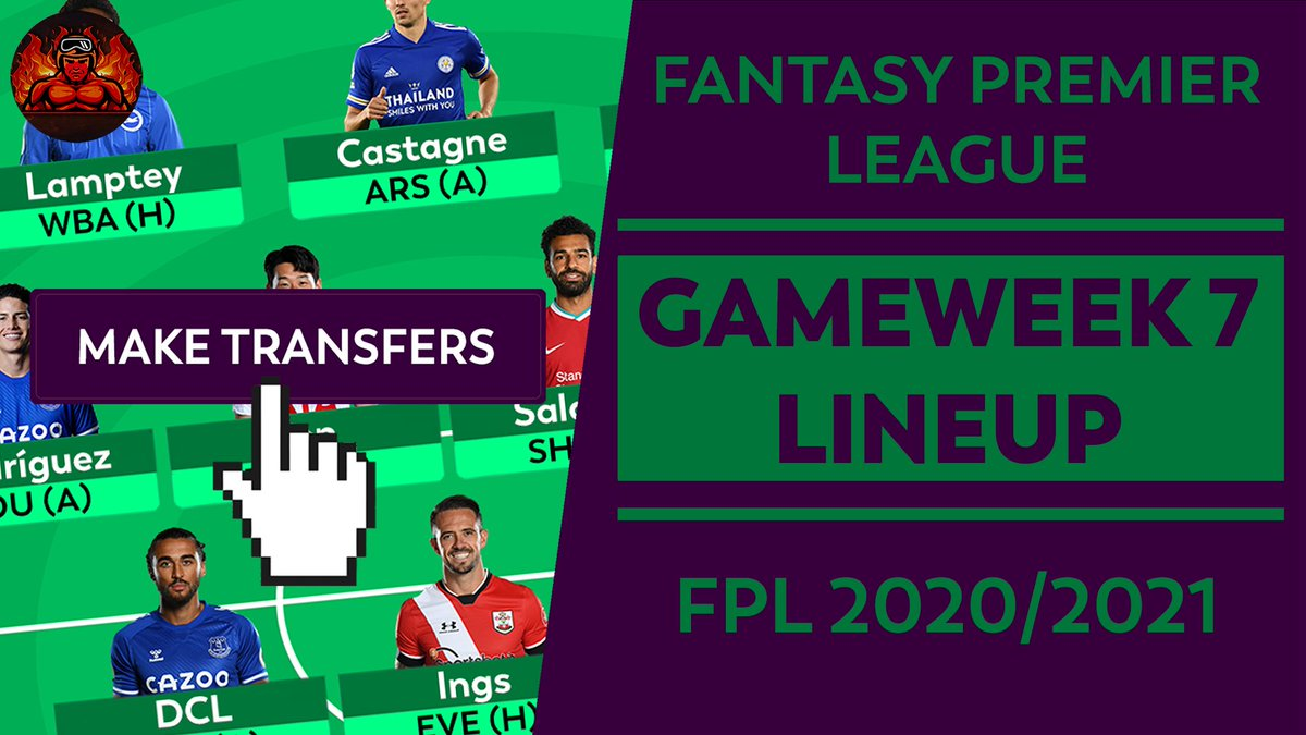 HERE IS MY #FPL #GW7 LINEUP ANNOUNCEMENT 🎥!  FPL: GAMEWEEK 7 LINEUP ANNOUNCEMENT! | A DEFENSIVE TRANSFER?!? | FANTASY PREMIER LEAGUE TIPS 2020/21  #FPL #FantasyPremierLeague #GW7 #FPLCommunity #Lineup  WATCH IT HERE! 👉 https://t.co/xegsEwBDXp https://t.co/lJX9b965ON