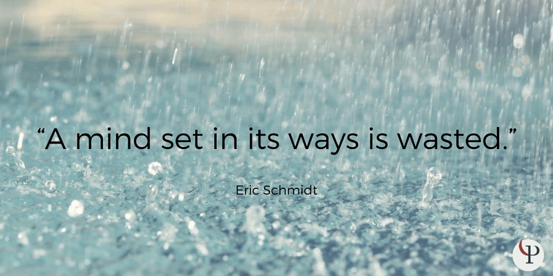 A mind set in its ways is wasted. - Eric Schmidt ~ He is the former CEO of Google, where he attempted to bring mindfulness and psychology teachings into the workplace. ~ #Mindfulness https://t.co/CiJ31X3Mni