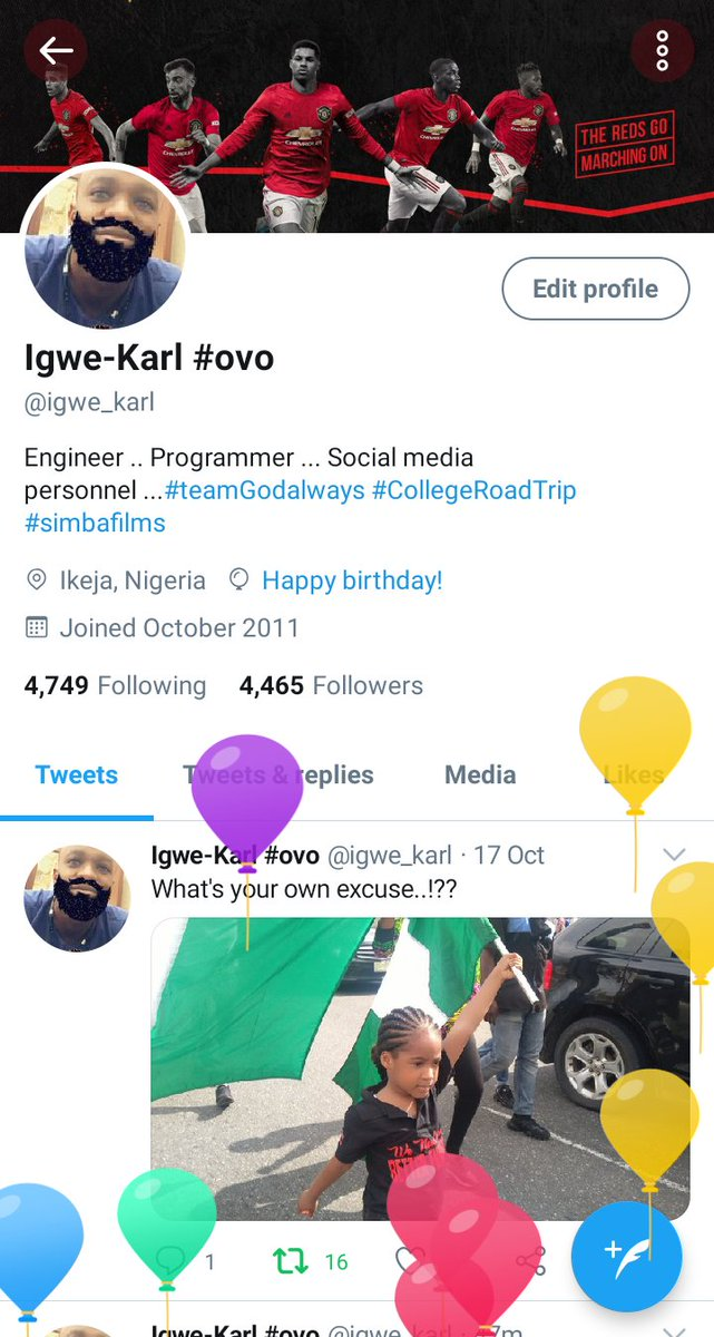 Yeah.. I got balloon today, thank God we are getting closer to achieving  #EndSARS #EndMilitaryBrutality https://t.co/mMMoYfOvkR