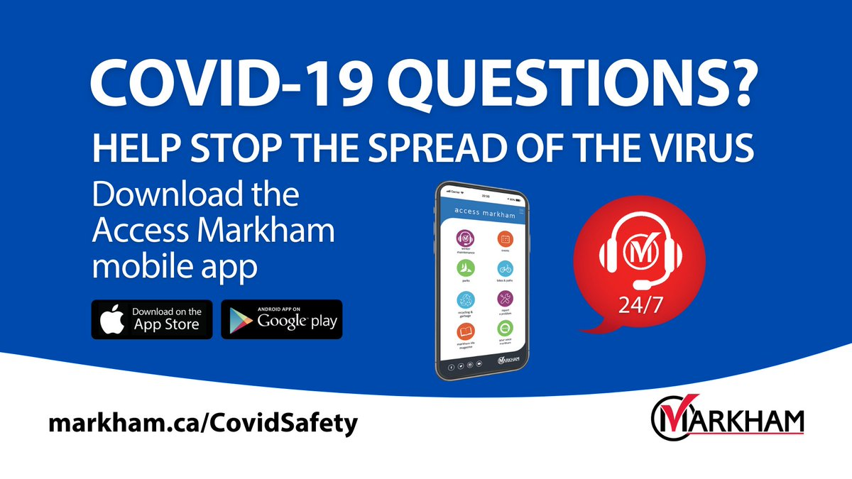 Get reliable & accurate information about #COVID19 from our Virtual Assistant – 24/7.   Protect yourself & others. Every action counts. Help #StopTheSpread of the novel #coronavirus: https://t.co/SzwjaDkyvg   #MarkhamCares #WeAreInThisTogether https://t.co/h3TAT5Q10l
