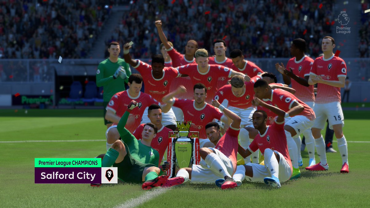 1st Season @SalfordCityFC in Premier League we won by 1 point difference, made history in England #EASPORTSFIFA20 #XboxShare https://t.co/mj40es6KLr