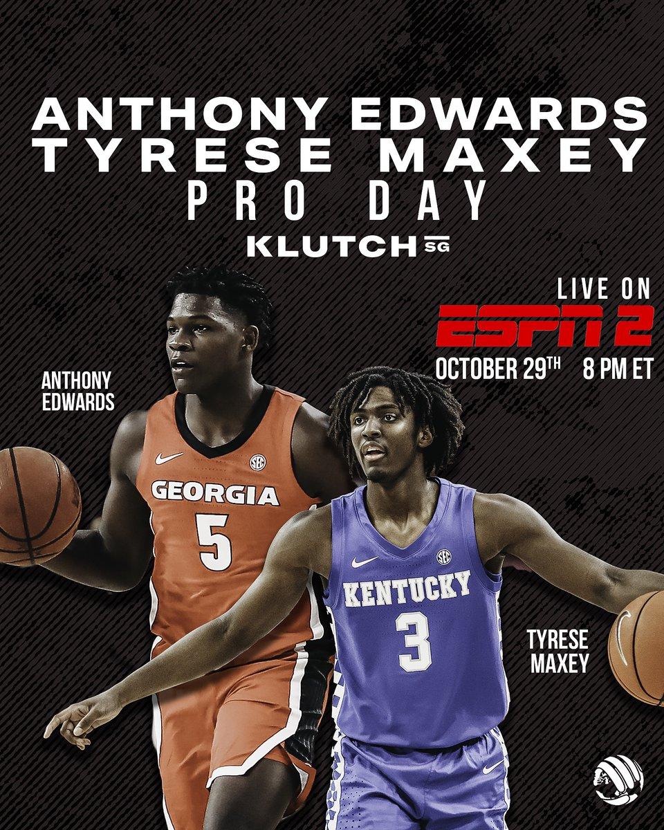 Watch @theantman05 & @TyreseMaxey Pro Day live on ESPN2 tomorrow! #Draft2020 https://t.co/4m9z0QMrBk