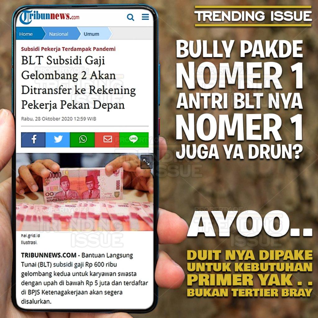 Program PEN (Pemulihan Ekonomi Nasional) akan menyalurkan BLT untuk para pekerja aktif gelombang 2 di awal minggu pertama bulan November 2020.  Selamat menikmati..  https://t.co/zVWTPLu1iM  #indonesiamaju #jokowidodo #sayainfluencerjokowi #indonesia #BersatuIndonesiaMaju  #jokowi https://t.co/7mpBVK2Rjx