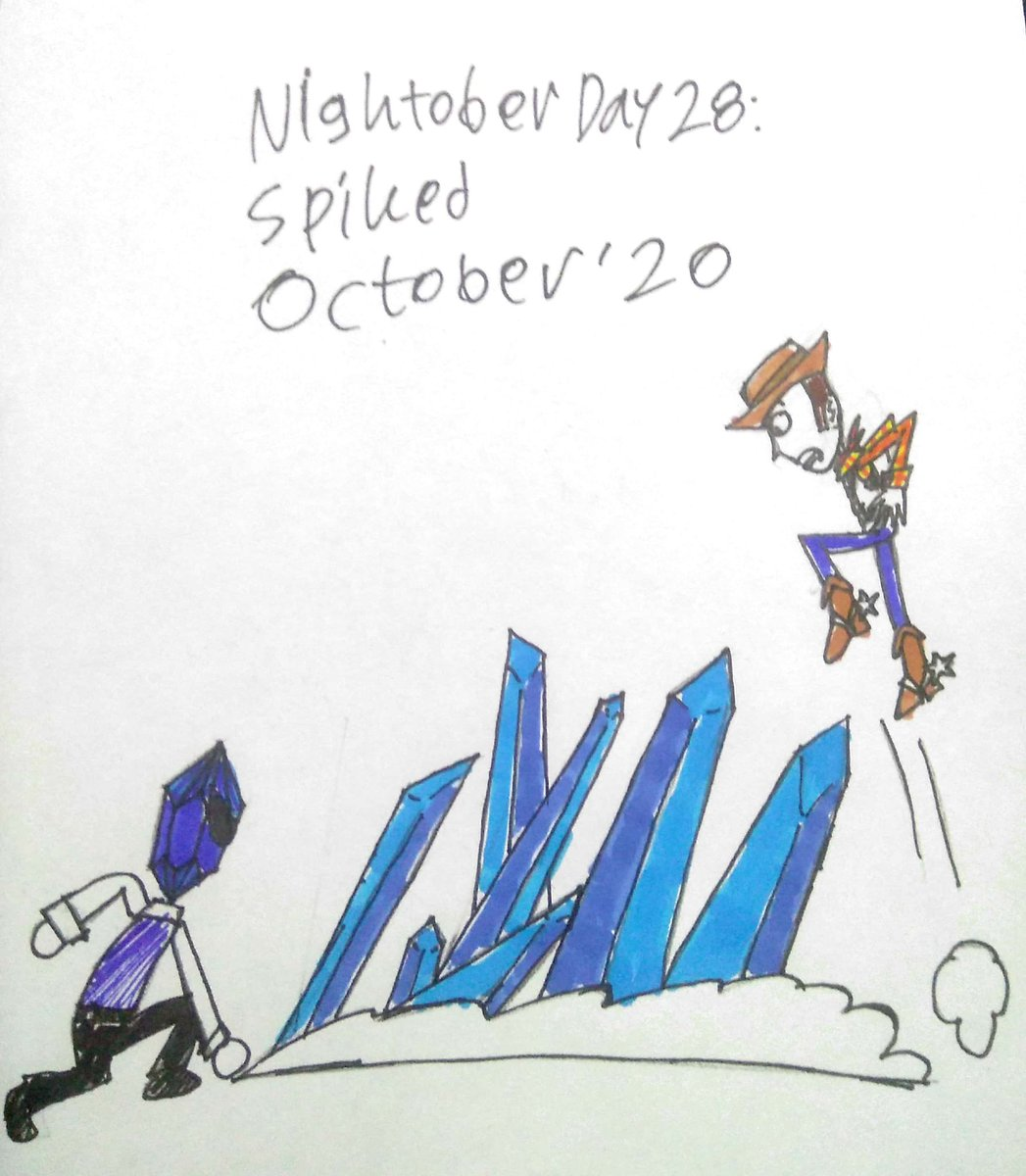 While Woody fighting Sapphire Man, even Sapphire Man can use Sapphire Spike Attack. #toystory #toystoryau #toystoryfanart #toystoryoc #toystorygreatseries #toystorywoody #inktober #inktober2020 #nightober #nightober2020 https://t.co/z15plyxA52
