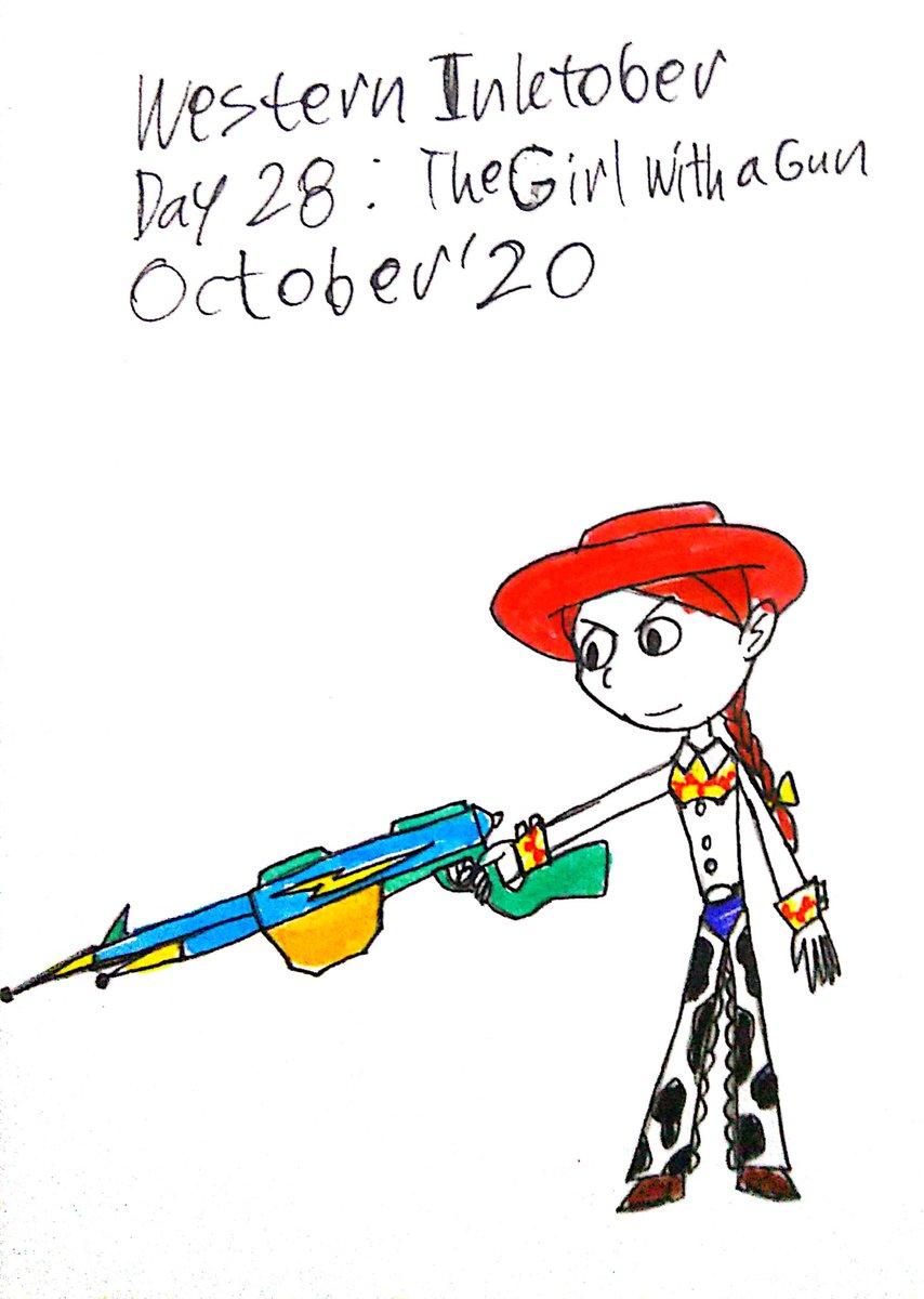 Jessie going to help them with her amazing guns. #toystory #toystoryau #toystoryfanart #toystorygreatseries #toystoryjessie #westerninktober #inktober #inktober2020 https://t.co/CJm1A9ROMh