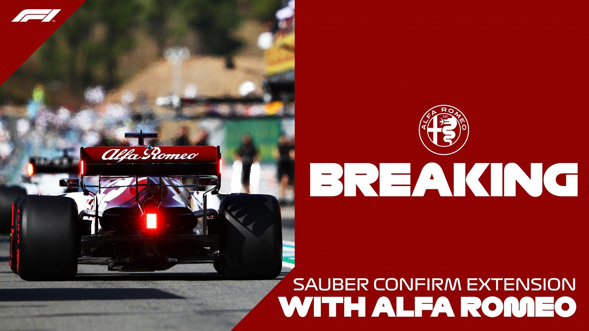 F1 – Sauber Motorsport F1 : Partenariat prolongé avec Alfa Romeo. Räikkönnen et Giovinnazi pilotes 2021 (officiel)