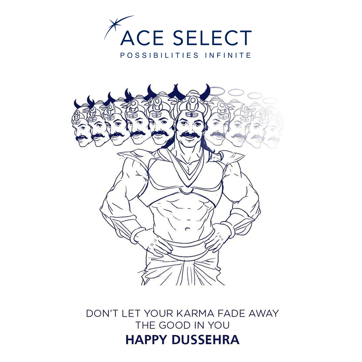 May God Ram keep lighting your path of success and may you achieve victory in every phase of life. Wish you a Happy Maha Navami and Dussehra!! from @ace_select . . . #ace_select #aceselect #ace #dussehra #india #navratri #festival #happydussehra #dussehraspecial #durgapuja