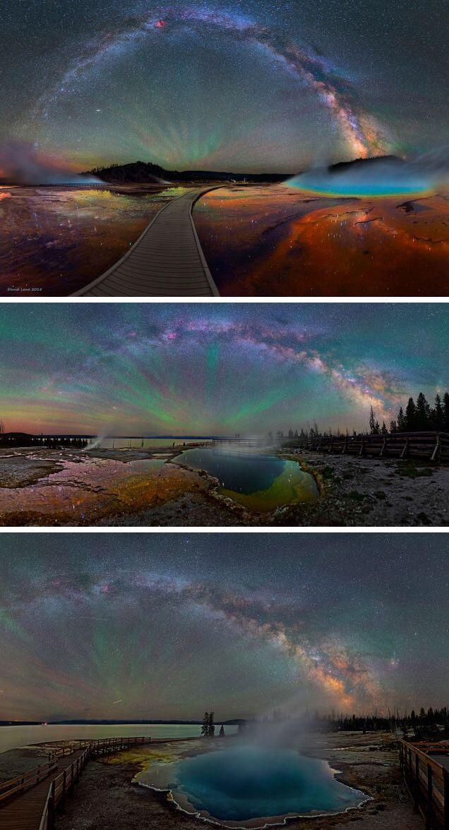 RT @konstructivizm: Impossibly beautiful shots of the Milky Way over Yellowstone National Park | Photos by Dave Lane https://t.co/G7nNFiEeQU