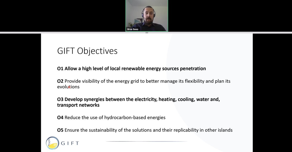 Brus Saso, from  @GIFT_H2020, has quickly presented this project's goals and is now focusing on the different types of  #EnergyStorage and  #StorageDynamics…