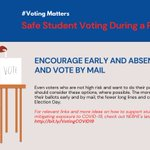 Image for the Tweet beginning: Voting by mail is a