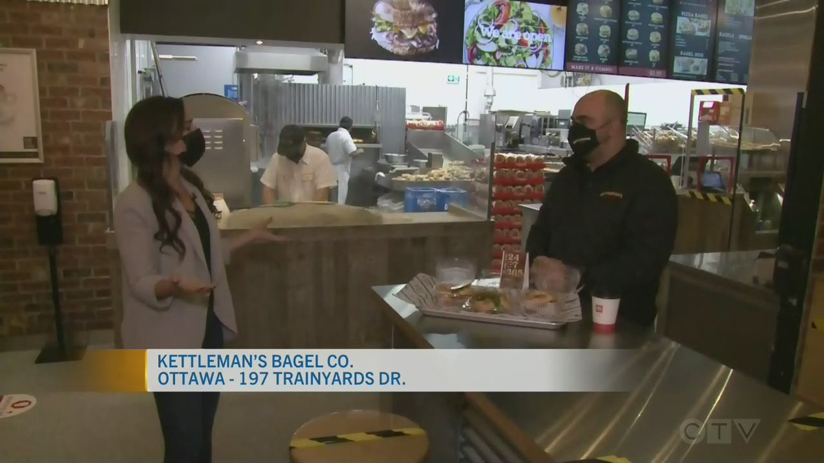 Live Eye: Kettleman's Bagel Co. | @CTVOttMornLive's @thejasminrose is at @bagelottawa's at the Ottawa Trainyards this morning to take a look at the new location and sample some of their delicious bagels.  #supportlocal https://t.co/gYUANlZV4C https://t.co/oXXLRZVtm4