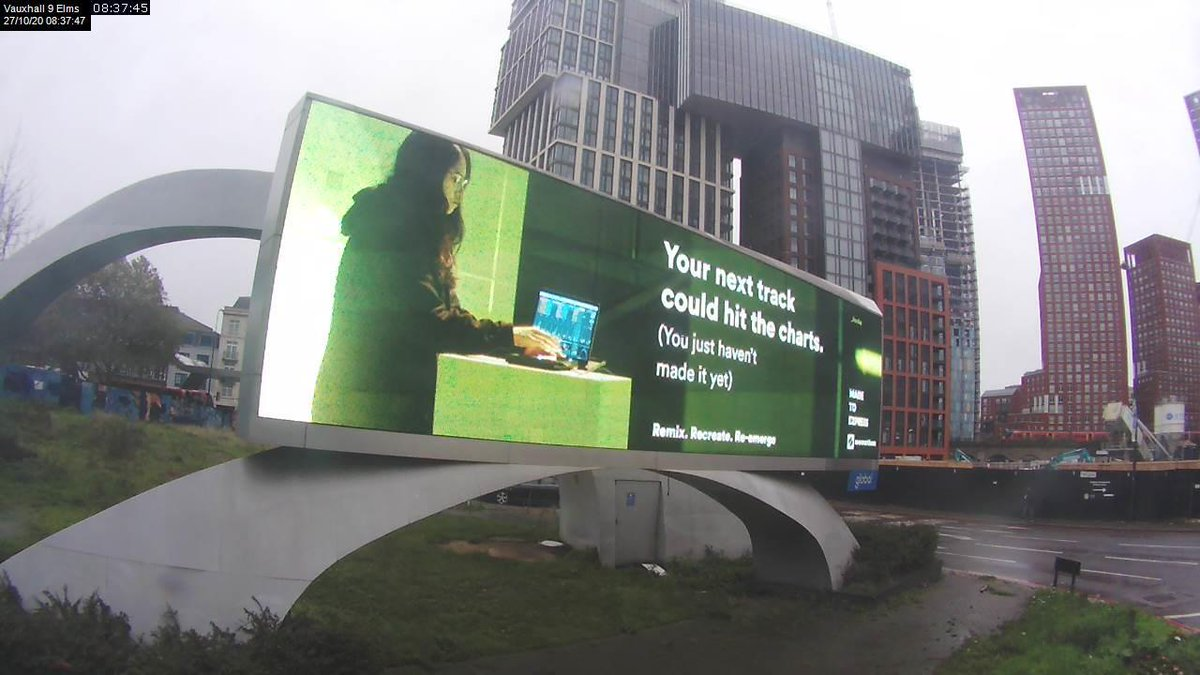 my geeky ass self is on that massive billboard in vauxhall ☺️