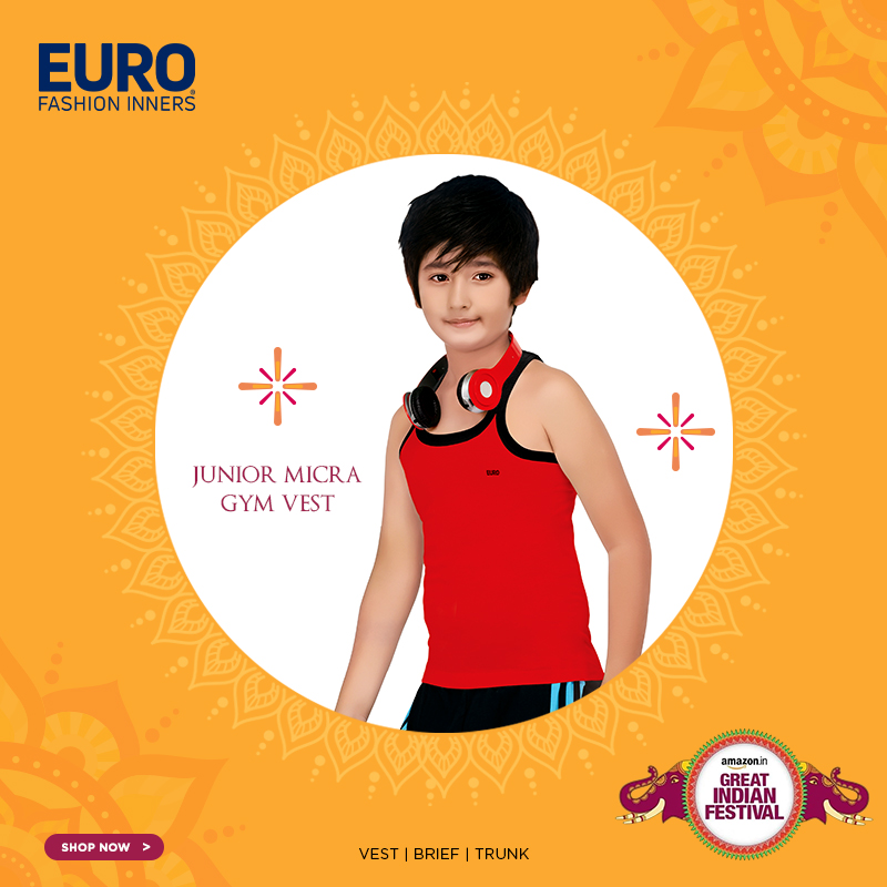 Shop your favorite Junior Micra Gym Vest @ special prices  @amazonIN :  #GreatIndianFestival #Vest #Brief #Trunk