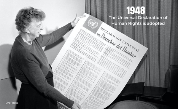 The Universal Declaration of #HumanRights is a milestone document in the history of human rights, setting out fundamental human rights to be universally protected. It has been translated into at least 523 languages, making it the most translated document in the world. #TBT https://t.co/mnOqMH5E7z