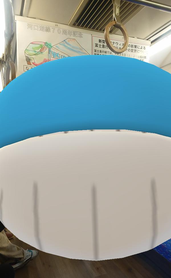test ツイッターメディア - 電車でポケモンGOのお供機能でホエルオー出したら大きすぎて収まらんwww #ポケモンGO https://t.co/Vady0R0qmG