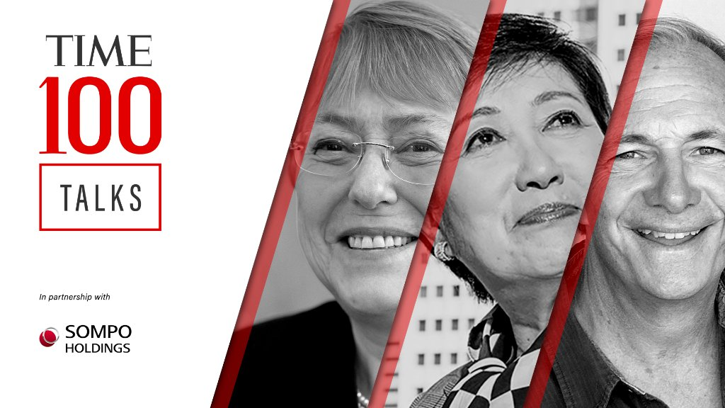 Starting in one hour, join us for a live #TIME100Talks as we convene extraordinary leaders from every field to spotlight solutions and encourage action toward a better world. Register now: https://t.co/msEnnHnWsf  In partnership with Sompo Holdings https://t.co/GH08QHOnao