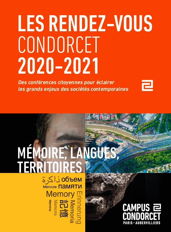 """#Agenda : Du novembre 2020 au juin 2021, @CampusCondorcet vous propose des rendez-vous mensuels pour aborder tous les sujets sur  """"Mémoire, langues, territoires"""". Places limitées, inscrivez-vous ⬇️ https://t.co/WUxftxrWOC #SHS https://t.co/P9lBekrdHF"""