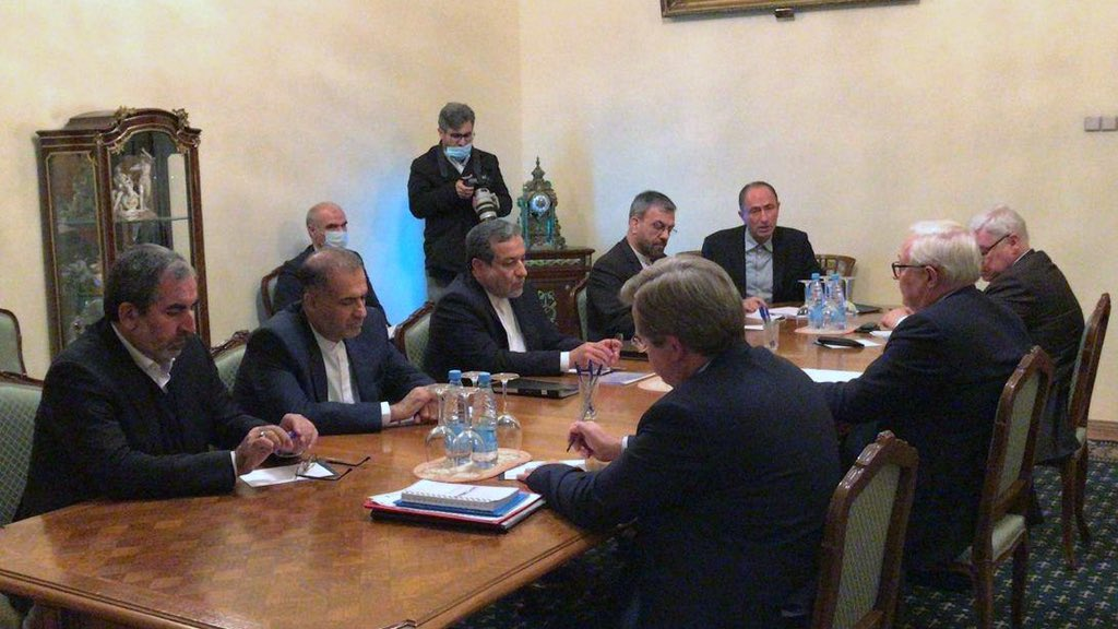 Shared Irans initiative with Andrey Rudenko, Deputy Foreign Minister of Russia, in a fruitful meeting today in Moscow. Iran and Russia share similar approaches towards Nagorno-Karabakh Conflict. Also had good discussion -as always - with Sergey Ryabkov on the future of JCPOA.