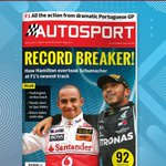 How Hamilton made history with  9️⃣2️⃣ race wins 🤯  ✅ Dixon claims his 6️⃣th Indy Car title ✅ Tandy stars in the Spa 24hrs ✅ Turkington strikes back  Pick up the latest copy of the Autosport Magazine to read more! 🏁  #AutosportMagazine #Autosport #F1