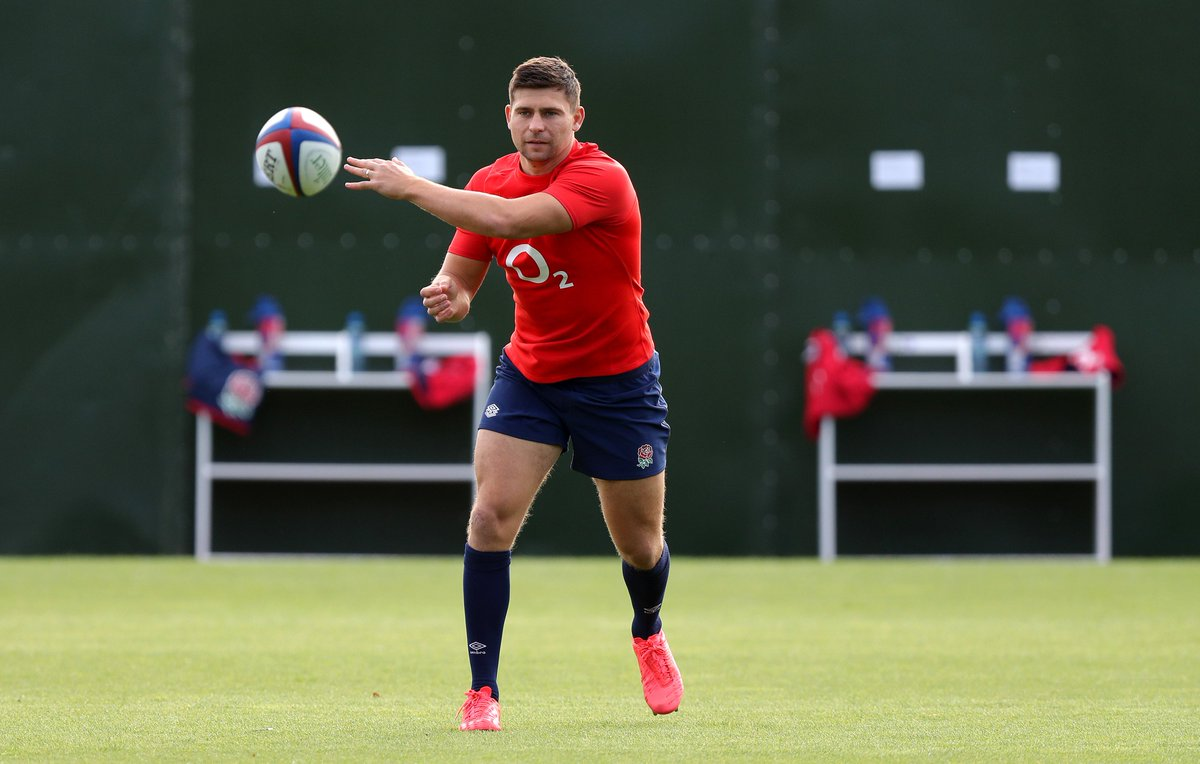test Twitter Media - 𝙈𝙄𝙇𝙀𝙎𝙏𝙊𝙉𝙀𝙎 🌹  @benyoungs09 is set to become the second England men's player to reach 1️⃣0️⃣0️⃣ caps 👏  He will lead out the side on Saturday alongside @J_George2 who makes his 50th appearance 🙌 https://t.co/cPVmSAx8V2