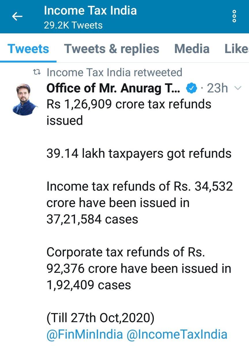 Income Tax Refund progress  Stay Tuned for regular updates!!  #CA #India #Incometax #Tax #savetax #savemoney #Mumbai #GSTexpert #taxlaw #startup #startupnews #business #Businessman #letsmaketaxsimple #WhatsApp #twitter #gmail #facebook #LinkedIn #YouTube #Instagram #startups https://t.co/8e2KA2Nzxb