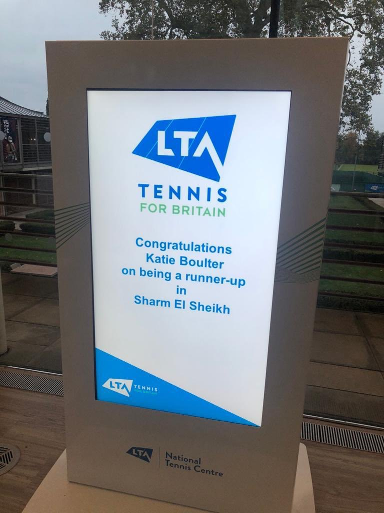 From the LTA's offices in Roehampton. I mean, I am all for positivity, but ... really?