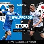 Image for the Tweet beginning: 🔵 Hwlffordd v Y Bala