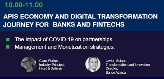 On October 29, at 10 am EST, join Clare Walker, #Fintech Industry Principal at @Frost_Sullivan, at #OpenBank Latam, and discover management and #monetization strategies, and the impact of COVID-19 on partnerships. Register now: https://t.co/hpWTJ0dvll https://t.co/ugVB5hKJ7S