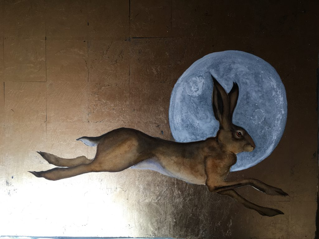 Remember the hare I painted at @hayfestival ? https://t.co/aPMbw405Xo Well, there's 150 of them seeking their new homes, and one original...... Have a read. Please share. https://t.co/Cj7gOPedcw
