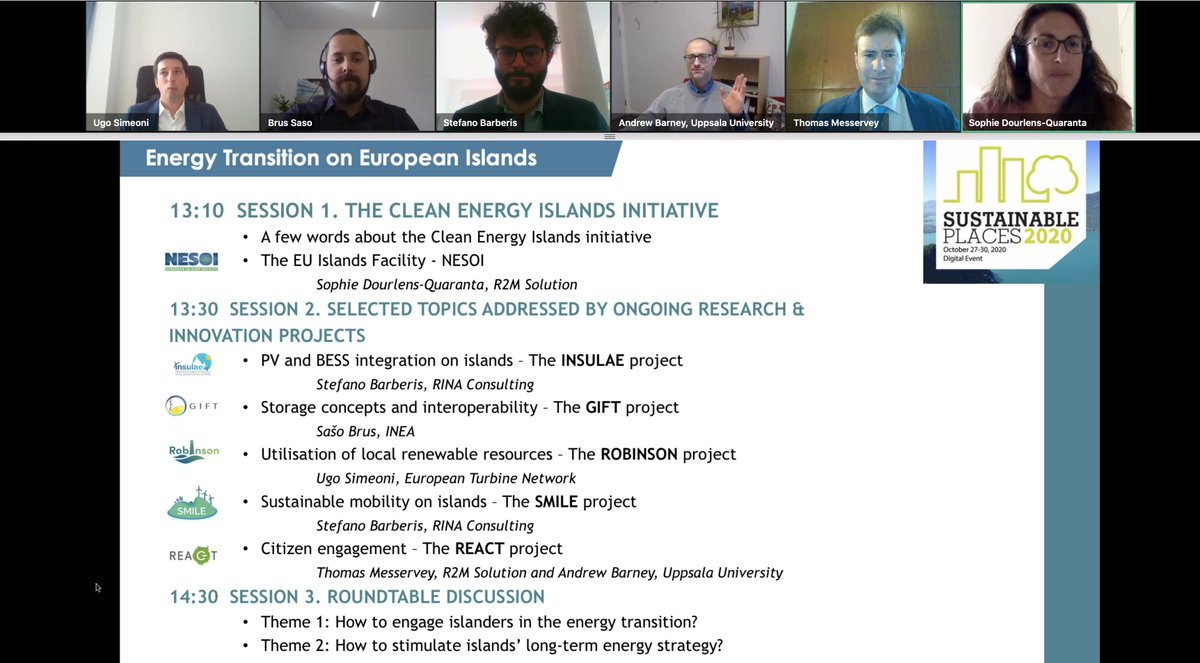 The workshop has started on time!  @SophieDourlens has introduced the agenda and is now expressing a few words about the Clean Energy Island initiative.