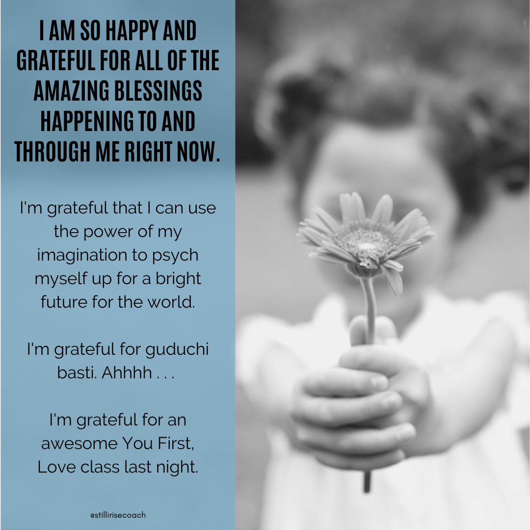 Loving life today!  #iamgrateful #imagination #conjurewoman #brightfuture #superpower #creation #guduchi #colonhealth #basti #enema #youfirstlove #perspective #selfimage #speaklife #strongertogether #stillwerise #stillyourise #stillirise #stillirisecoach https://t.co/4chwIgLzzT