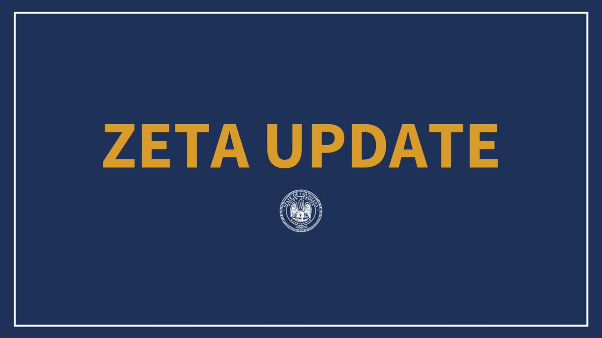 Gov. Edwards will provide an update on Louisianas response to Hurricane Zeta at 2 p.m. ⏰: 2 p.m. 🎥: facebook.com/LouisianaGov 💻: gov.la.gov #lagov #Zeta