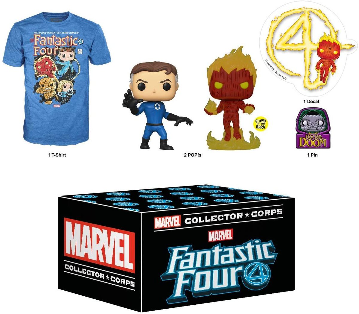 Funko Marvel Collector Corps Subscription Box- size Large Shirt, $19.88; 2