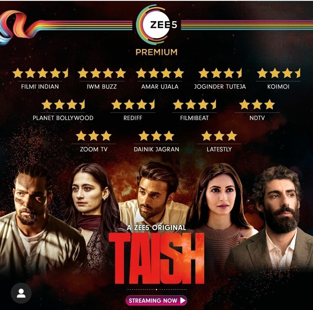 We Love it when we Deliver like this #TAISH is loved across Thank u @tarunkatial @aparna24 @pandya_jay @Straying_mind @avik22j #saurabhvanzara @nambiarbejoy @DeepakMukut @nishantpitti @Shivanshuhere @PulkitSamrat @harsha_actor @jimSarbh @kriti_official @iamsanjeeda @ZEE5Premium
