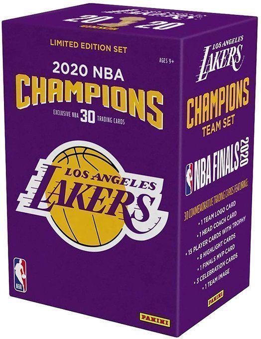 Lakers 2020 NBA Finals Painini Card Team Set!  2