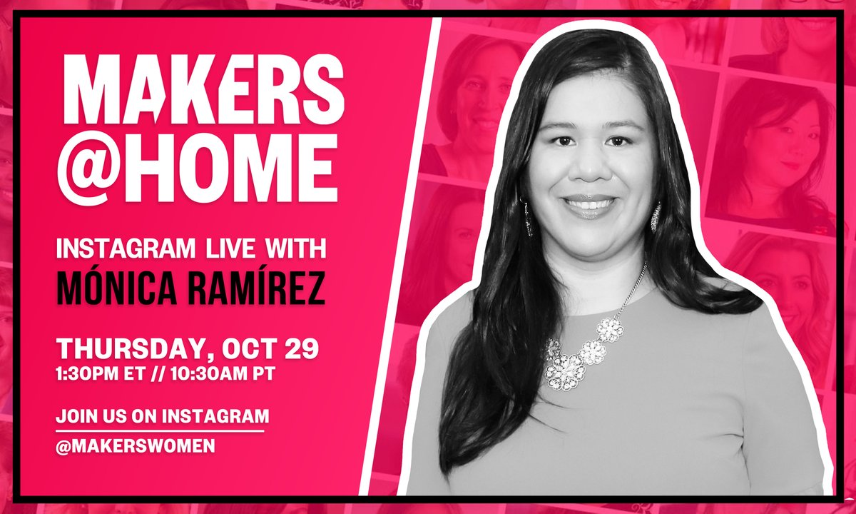 LIVE NOW! 🚨 Join us for a special MAKERS @HOME with POWERHOUSE Mónica Ramírez, the Founder of @mujerxsrising and Co-Founder of @thelatinxhouse,@campesinasunite & @she_sepuede. 👏👊 #LatinaEqualPayDay ➡️ yhoo.it/3kGTbRY
