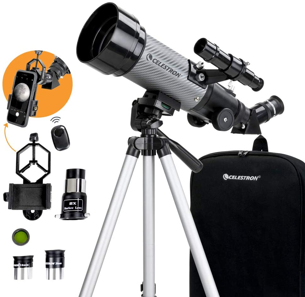 Celestron - 70mm Travel Scope DX - Portable Refractor Telescope  Only $69!  2