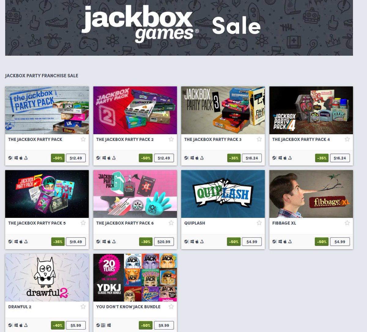 Jackbox Party franchise sale on Humble 2