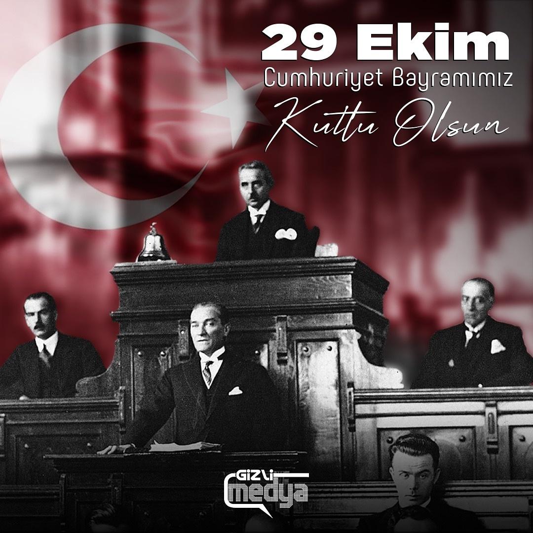 """""""Ey yükselen yeni nesil! İstikbal sizsiniz. Cumhuriyeti biz kurduk, onu yükseltecek ve yaşatacak sizsiniz.""""  - Gazi Mustafa Kemal Atatürk  #29EkimCumhuriyetBayramı Kutlu Olsun! 🇹🇷 https://t.co/ydh1ATKBBQ"""