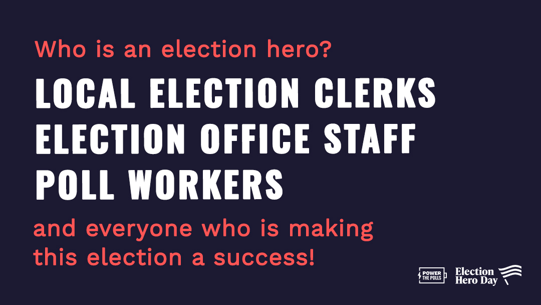 This year, our friends, family, colleagues, and neighbors have stepped up in a big way to ensure our election is safe, secure and accessible for all voters. We thank those powering the polls in 2020! #ThankYouElectionHeroes