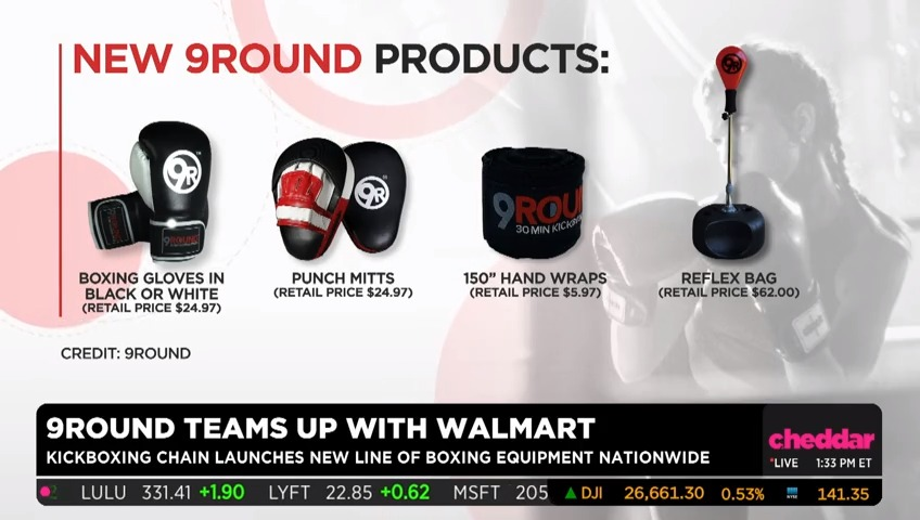 .@9Round CEO Shannon Hudson explains how the kickboxing chain is packing a punch with a new Walmart partnership. #CheddarLive https://t.co/GZS8jN1Kh0