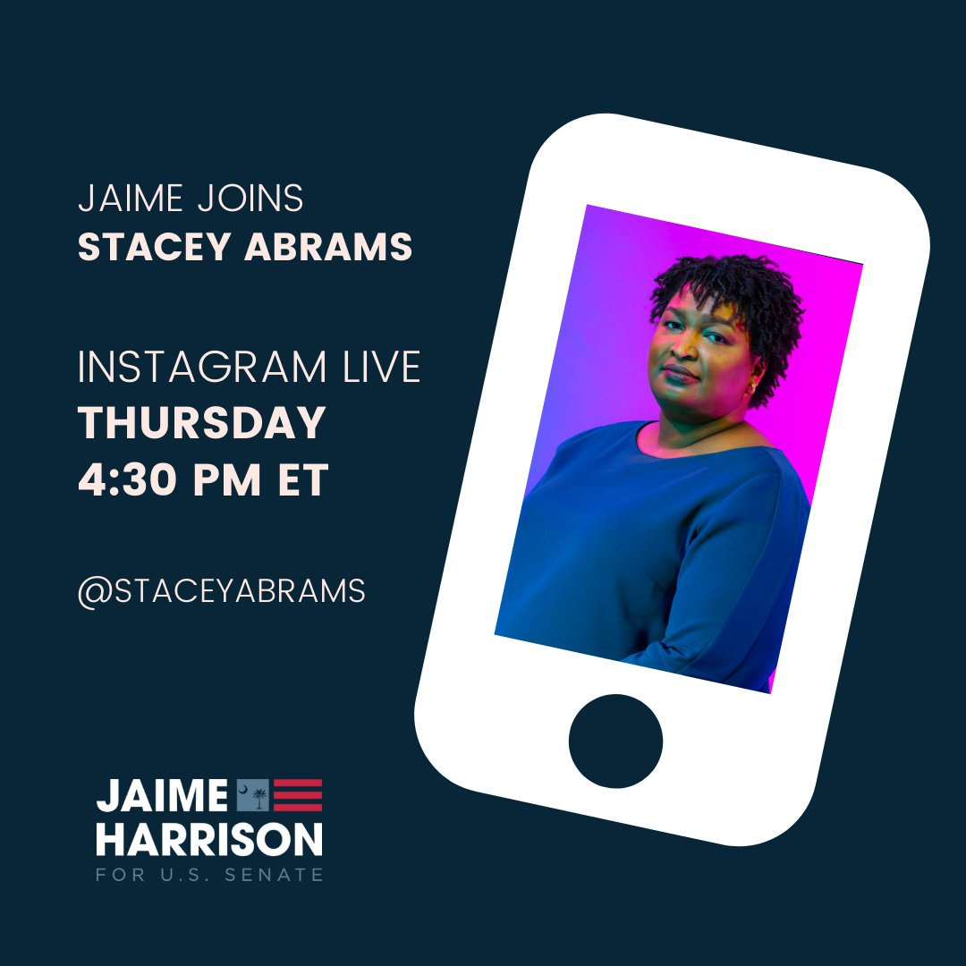 I couldnt run the race Im running today without @staceyabrams showing us the blueprint during the last election. Join us for a conversation on Instagram Live today at 4:30 PM!