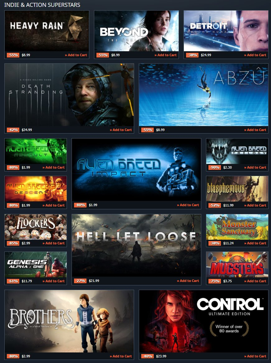 Indie & Action game sale on GamesPlanet