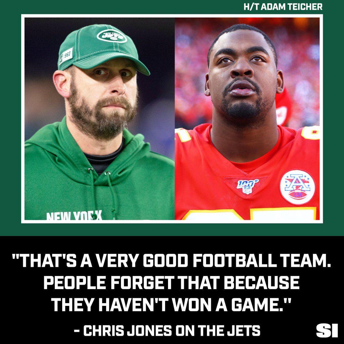 The Chiefs are 19.5-point favorites over the Jets on Sunday... https://t.co/ifFZGlOvRq