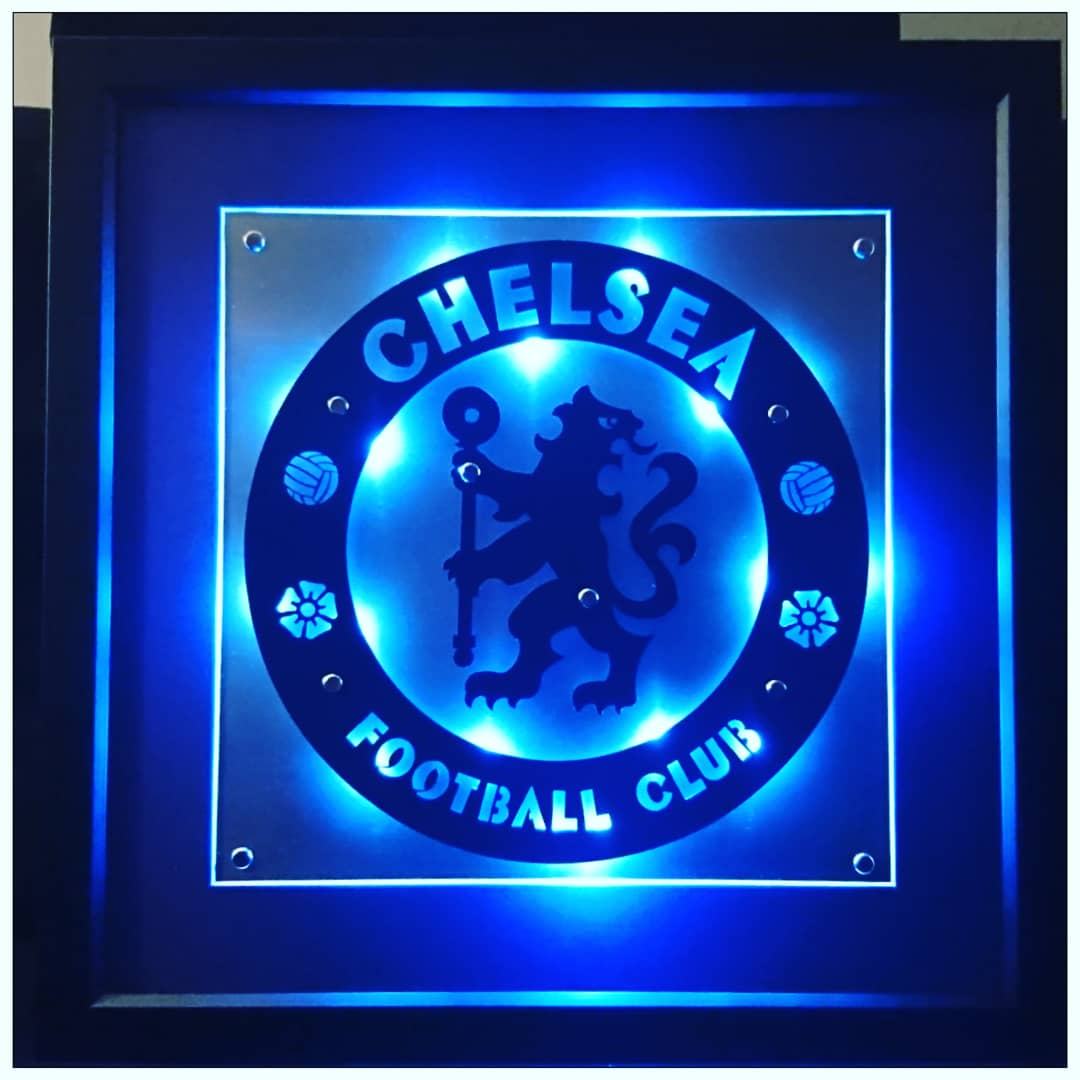 NEW ITEM!! Framed Laser Cut Stainless Steel cw LEDs. Chelsea football club. Highly detailed. Available to order. https://t.co/9qp8lruqTA #chelsea  #chelseafc #chelseafcfans #englishpremierleague #premierleague #chelseafootballclub #steelart #framedart #unique  #soccer #football https://t.co/d8WDVNABPZ