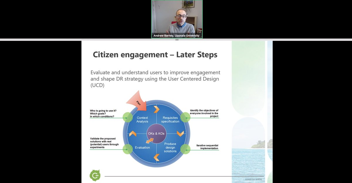 """Andrew, being """"theoretical"""" and """"optimistic"""", quoting @TomMesserve, pointed out the importance of user engagement for  #renewables to thrieve on islands!"""
