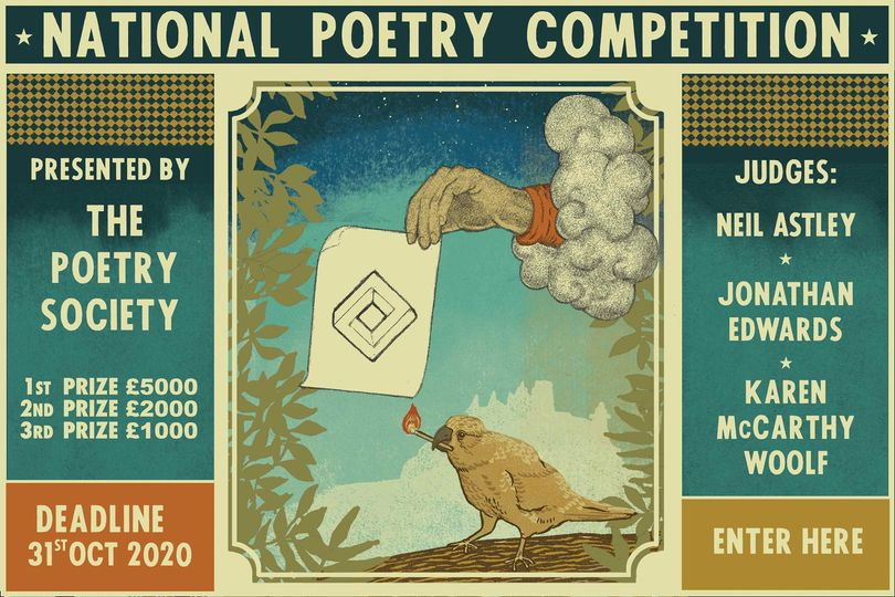 The National Poetry Competition closes at midnight GMT 31 October! Open to all poets 18+. Is your poem the one that the judges - Neil Astley @bloodaxebooks, @KMcCarthyWoolf @carcanet, Jonathan Edwards @poetrywales - will select as the £5,000 winner? bit.ly/2020npc