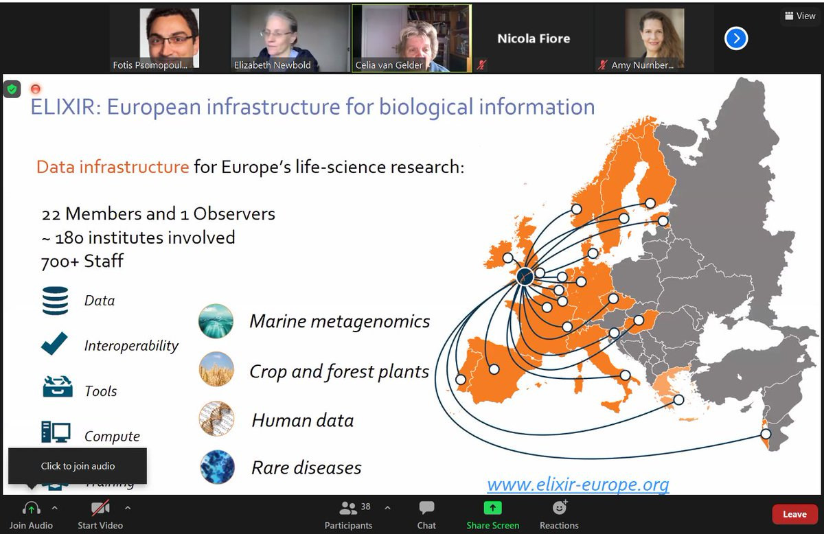 @celia_vgelder presenting TeSS, the @ELIXIREurope  Training Portal at the @FAIRsFAIR_EU Workshop  on Training Resource Catalogue Interoperability. A solid approach to catalogue and share training events and materials for Life Sciences and beyond. https://t.co/ym8gIrHCBx